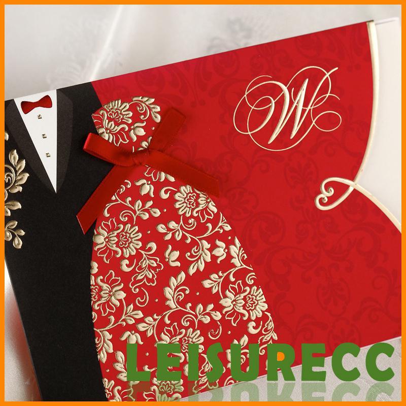 Free wedding invitation templates diy formal dress black red stamping