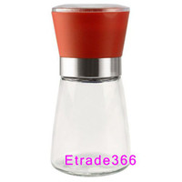 Wholesale 60pcs Best selling Glass Pepper set Salt Herb Spice Hand Grinder Mill manual pepper mill High Quality