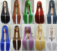 Wholesale Cosplay Colors long straight Heat Women s Girl WIG cm