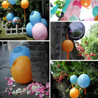 Wholesale retail inch cm Round Chinese Paper Lantern for Birthday Wedding Party Decoration gift craft DIY