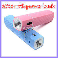 For Apple iPhone Emergency Chargers pink,red,black,white,blue. 2600mAh Power Bank Travel Battery Charger for iphone 4 5 Camera Emergency 2600 mAh Mobile Charge with Flashlight