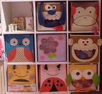 Wholesale 2002Baby Organic Animal Storage Bins Organic Nursery Decor baby Toys Storage Baskets Hampers Bins