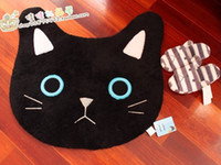 Wholesale Mats Doormat Carpet Toilet Mat Cat Cartoon Black And White Slip resistant Pad