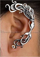 Wholesale Mermaid ear cuffs fashion vintage punk style earring for women jewelry LM C059