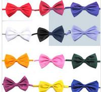 Bow Tie silk hair band - Fashion men women children pure bow ties handmade south Korean silk tie bow hair band headband charm jewelry
