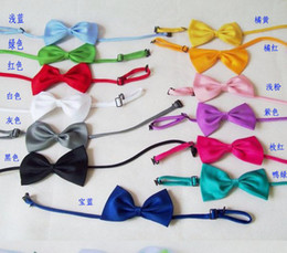 Stylish men women children pure bow ties handmade south Korean silk tie bow hair band headband charm jewelry new