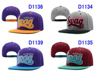 Wholesale 2013 New arrival EMS Free Swag Series Snapback Hats purple gray brown black swag hat hats SWAG HATS adjustable cap caps