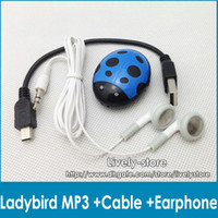 Free DHL 200pcs Ladybird design MP3 Player Digital Music Pla...