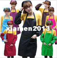 Wholesale colourful Kitchen aprons sets Apron armsleeves headband