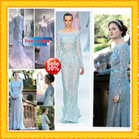 2013 Gossip Girl Fashion Blair In Elie Saab Blue Wedding Dre...