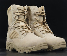 Wholesale men s outdoor Camping boots Delta desert boots Tan EUR SIZE military boots