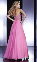 Wholesale Custom made Fashion Sexy Sleeveless Strapless Beaded Floor length Open back Chiffon Prom Night Moves Dresses