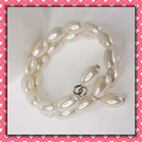 imitation pearl ECO Friendly  Free Shipping long styles Pearls Napkin Rings Wedding Accessories