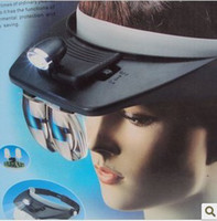 Wholesale New Function Lens x x x x Magnifying Glass Head Band Visor Magnifier Light Lamp LED Headlamp Loupe