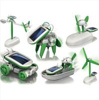 Wholesale DIY in Educational Solar Robot Kit Toy Plane Windmill for Children Kids BOY