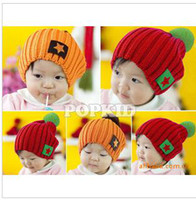Wholesale Han edition of new autumn and winter hat critical candy color fashion five star labeling children cap color _MZ0172 knitting wool hat