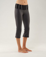 Wholesale Canada Brand women s yoga pants Lululu lemon dark grey and black pants Cropped Trousers piece