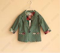 Cheap New Baby boys coats autumn polka dots Western-style clothes cotton cool fashion kids jackets children clothes wholesale 6pcs lot