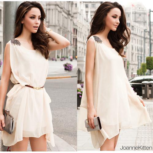 2015 High Street Women Beach Summer Dress Ice Cotton V Neck Faldas