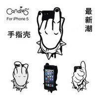 Wholesale Cool D finger Punk the Rock and Roll Funny Gesture Case Cover Soft Rubber Silicone Back for Apple iPhone G S