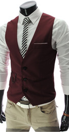 Wholesale New Men s Leisure Vest Men Slim Vest amp waistcoat Colors M07 M XXL