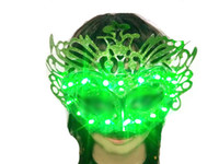 Wholesale Ladies Mask LED Glowing Masquerade Masks Pretty Halloween Stage Masks for Women Sexy Stylish Party Props V Colors Available