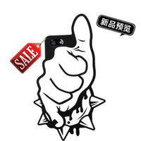 Wholesale DHL finger D Cool Rock and Roll Punk the Funny Gesture Case Cover Soft Rubber Silicone Back for Apple iPhone G S