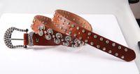 Standard western rhinestone belts - Woman Western Leather Rhinestone Bling stud Belt Cowgirl Cowbow Belt with S Design Full Rhinestone Pink Buckle