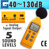 Wholesale SLM Digital in Professional Sound Pressure Level Meter Noise dB Decibels Logger