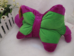 Wholesale big size New Barney Child s Best Friend Cushion Pillow Plush Doll Purple cartoon Pillows