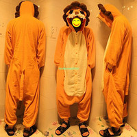 Regular Men Robe EQ9593 Unisex Kigurumi Cosplay Adult Animal Costume Lion King Pyjamas Pajamas Onesie S