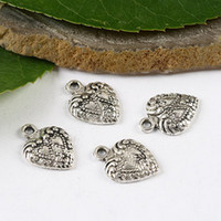 Wholesale 40pcs Tibetan silver heart charm findings H1499