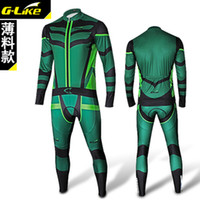 Wholesale New fashion green men Cycling Bicycle Outdoor Sports Jersey SFull Shirt long pants M XXL