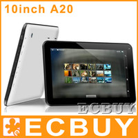 Wholesale 10 inch a20 inch A20 Tablet PC quot Tablet PC Allwinner Dual core bluetooth Android dual camera x600 G G HDMI tablet PC