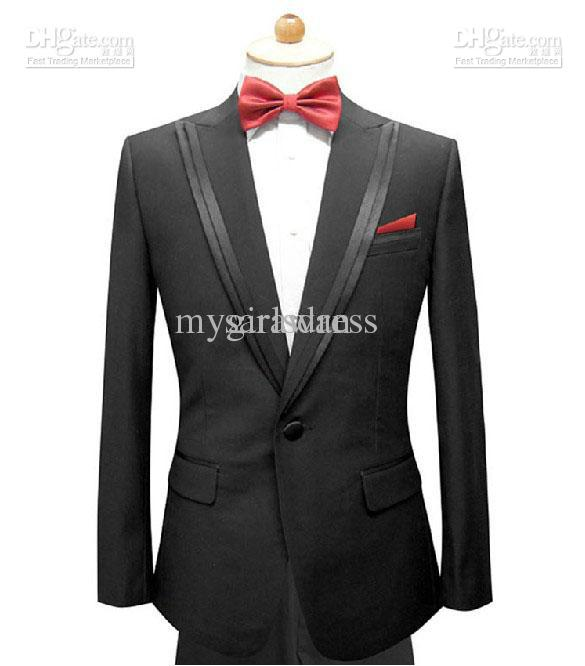 Custom Made Men Suit,black Men Wedding Suit,double Layer Collar