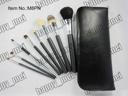 Wholesale Factory Direct Set New Makeup Brushes pieces brush sets leather pouch with numbered