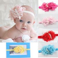 Flower big hair day - Beautiful Big Flower Headband Hairband Peal Baby Girls Flowers Headbands Kids Hair Accessories Baby Christmas Gift