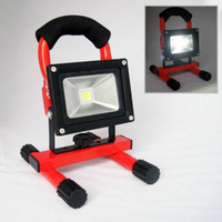 Wholesale 2013 W Red LED Rechargeable Flood Light can work hours outdoor lighting portable light rechargeable lamp emergency light