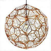 Wholesale Etch Led Light Web Copper Chandeliers amp Pendant Lamps by tom dixon CR02