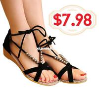 Wholesale Sandals summer low heel Roman shoes wedge sandals fashion ladies outdoor beach shoes sandals XWZ008