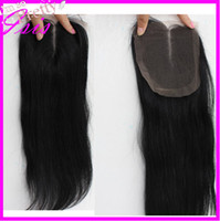 "Natural Color Babyhair Brazilian Hair 10""-20"" full Lace Top Closure (4""x4"") brazilian Hair natural color can be dyed and bleached straight Middle Parting UPS free shipping"