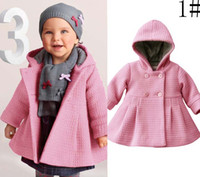 Wholesale Kids Wear Pea Coat Girls Worsted Coat Girls Coat Breasted Coat Kids Coat Children Coat Baby Coat