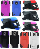 Wholesale For Samsung Galaxy S4 Active Double Layer Hybrid Stand Hard Soft Cover Case