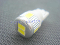 Wholesale High Quality T10 Car High Power W5W Cool White SMD LED Wedge Light Bulb Lamp V
