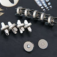 Wholesale DIY mm Silver Tone Handbag Leather Craft Or Clothes Magnetic Button Clasps