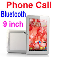 Android 4.0 9 inch 4GB 9 Inch Android 4.0 2G Mobile Phone Call Tablet PC MTK6515 1GHz Built-in Bluetooth Wifi Capacitive Screen 4GB 512M RAM Dual Camera