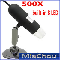 Cheap 500x Microscopes 2.0MP Convenient USB Microscope Digital Microscope 8 LED