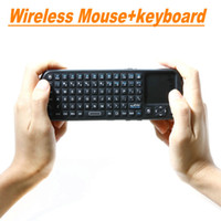 Wholesale iPazzPort G RF Mini Wireless Handheld Keyboard Touchpad with Smart TV PC Remote QWERTY LED Light Computer Peripherals