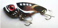 Wholesale 12pcs New Design VIB Metal Blade Fishing lures CM G hooks VIB009 fishing tackle vibrator Lure Bait Spoon Metal Lures