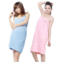 Wholesale Sexy spaghetti strap bathrobes bow ultrafine fiber bath towel p2727